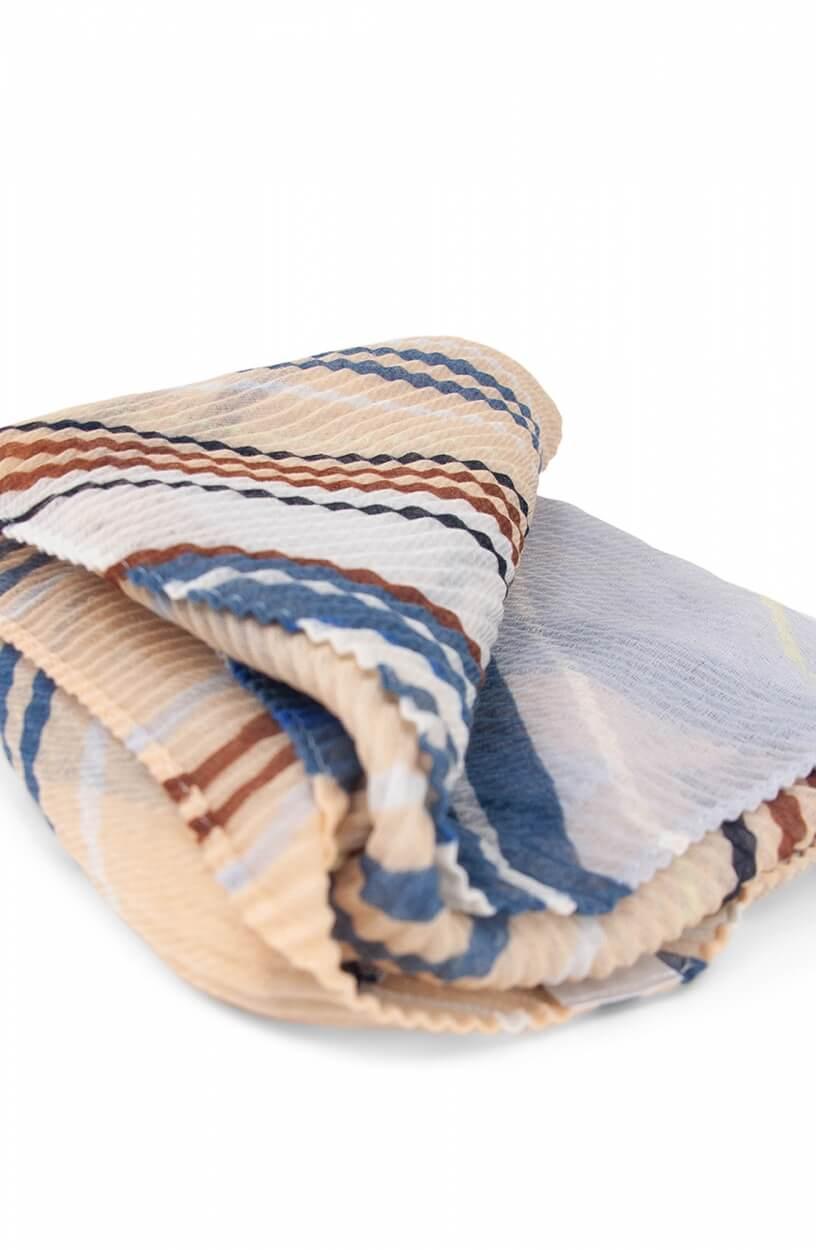 Codello Dames Plissé shawl met strepen Roze