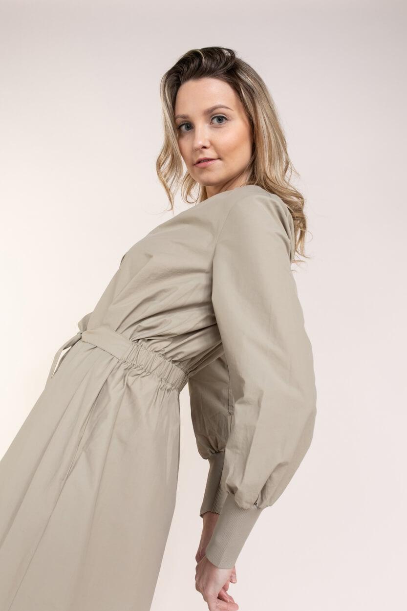 Levete Room Dames Marilyn blousejurk Bruin