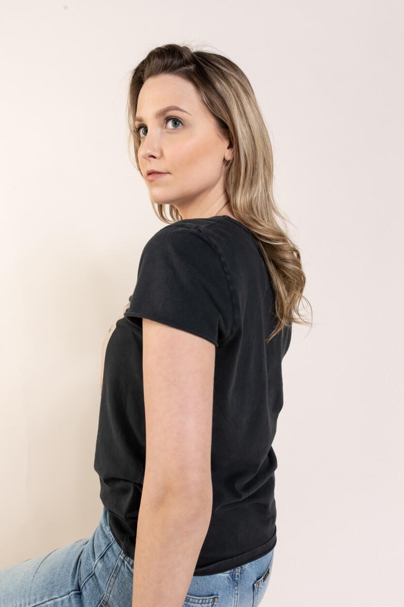Set Dames Shirt met artwork Zwart