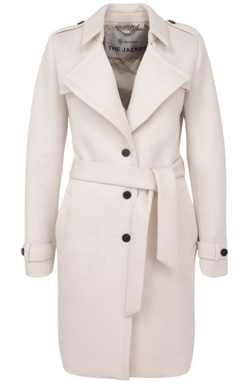 Giacomo Dames Trenchcoat Wit