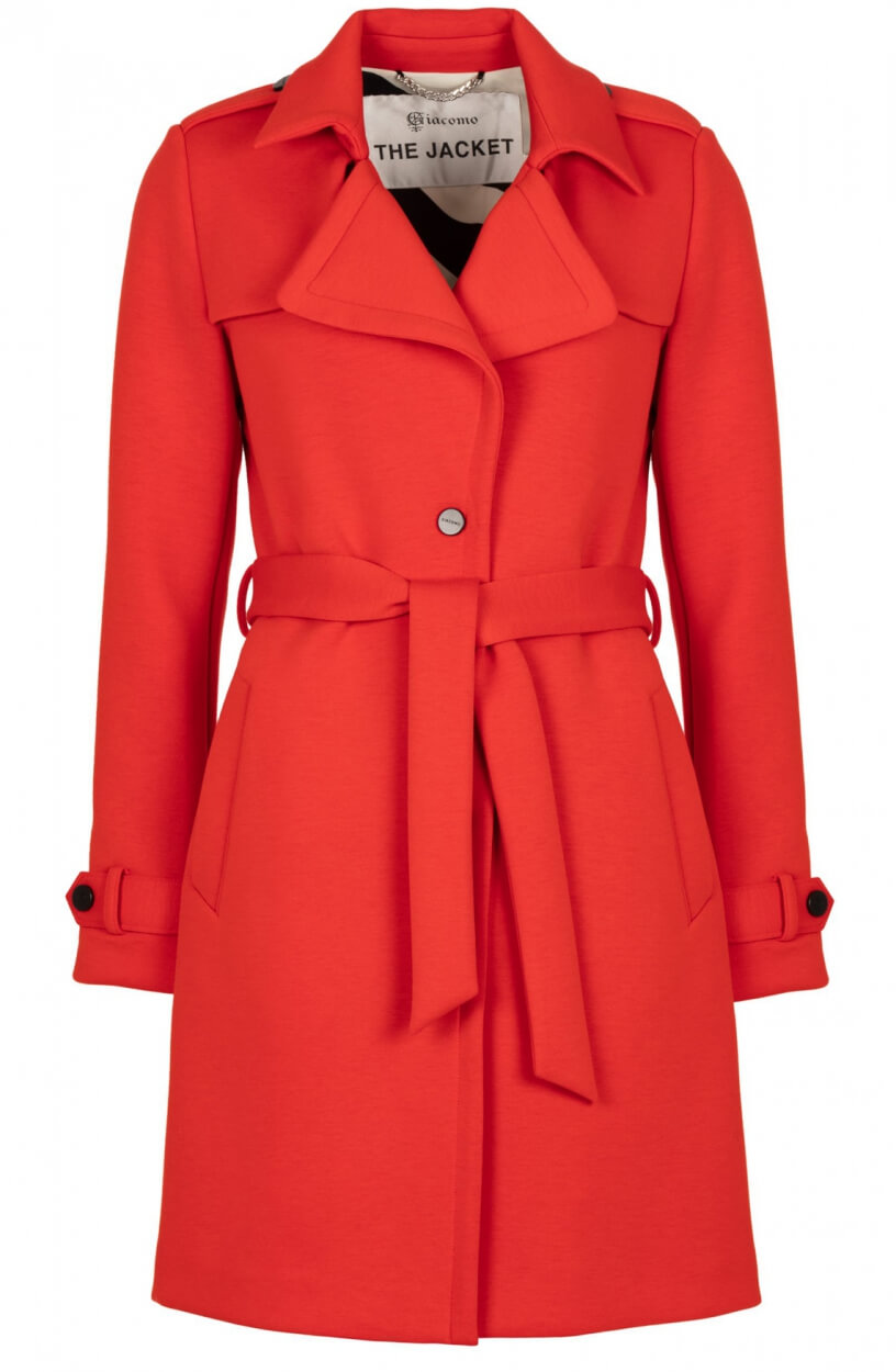 Giacomo Dames Trenchcoat Rood