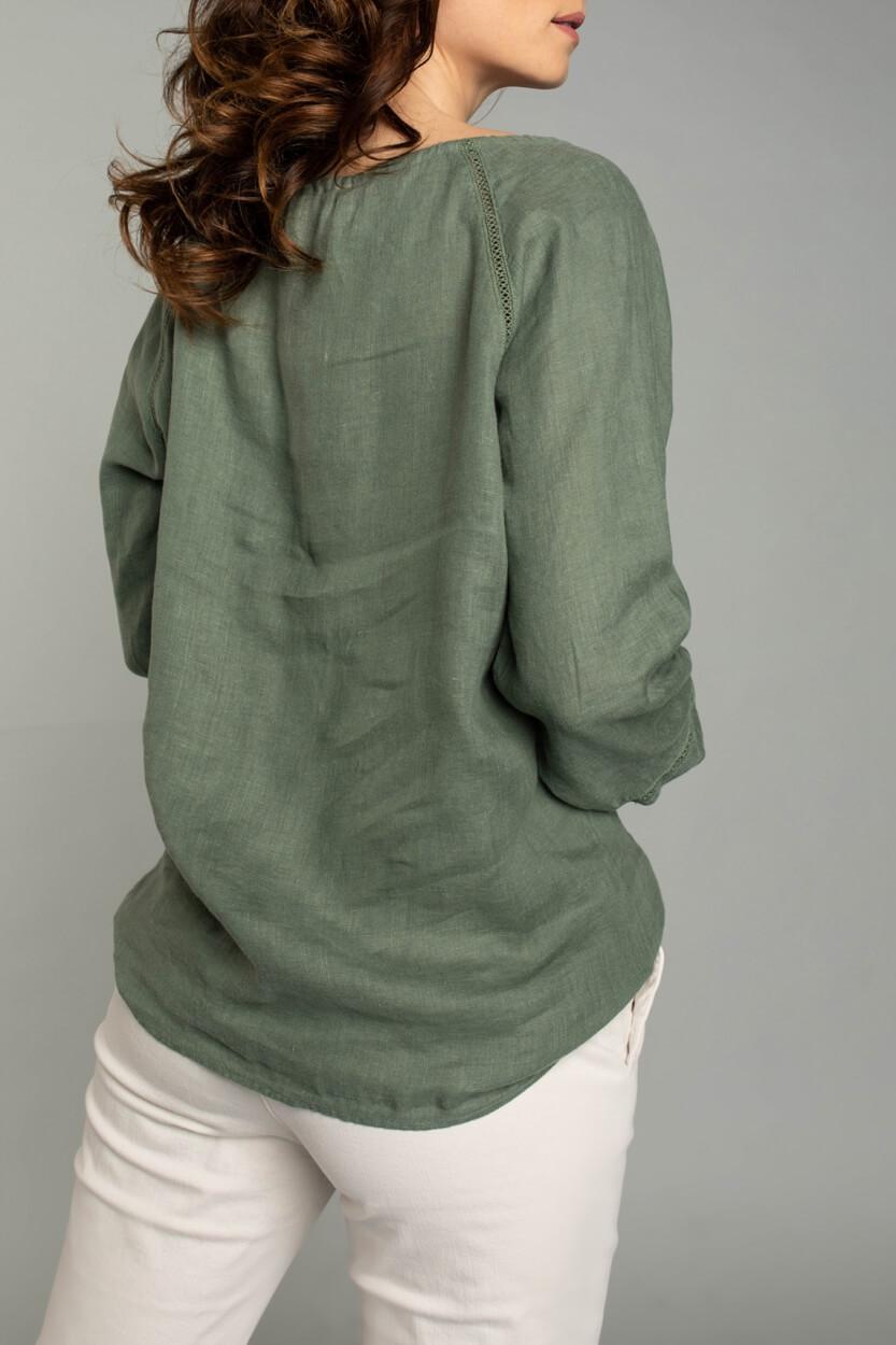 Moscow Dames Wind blousetop Groen