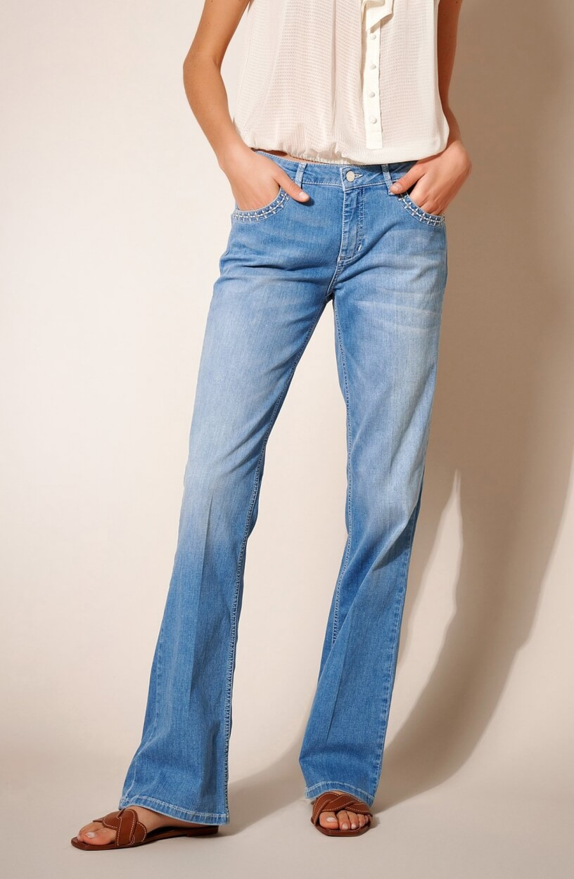 Rosner Dames L32 Antonia flared jeans Blauw