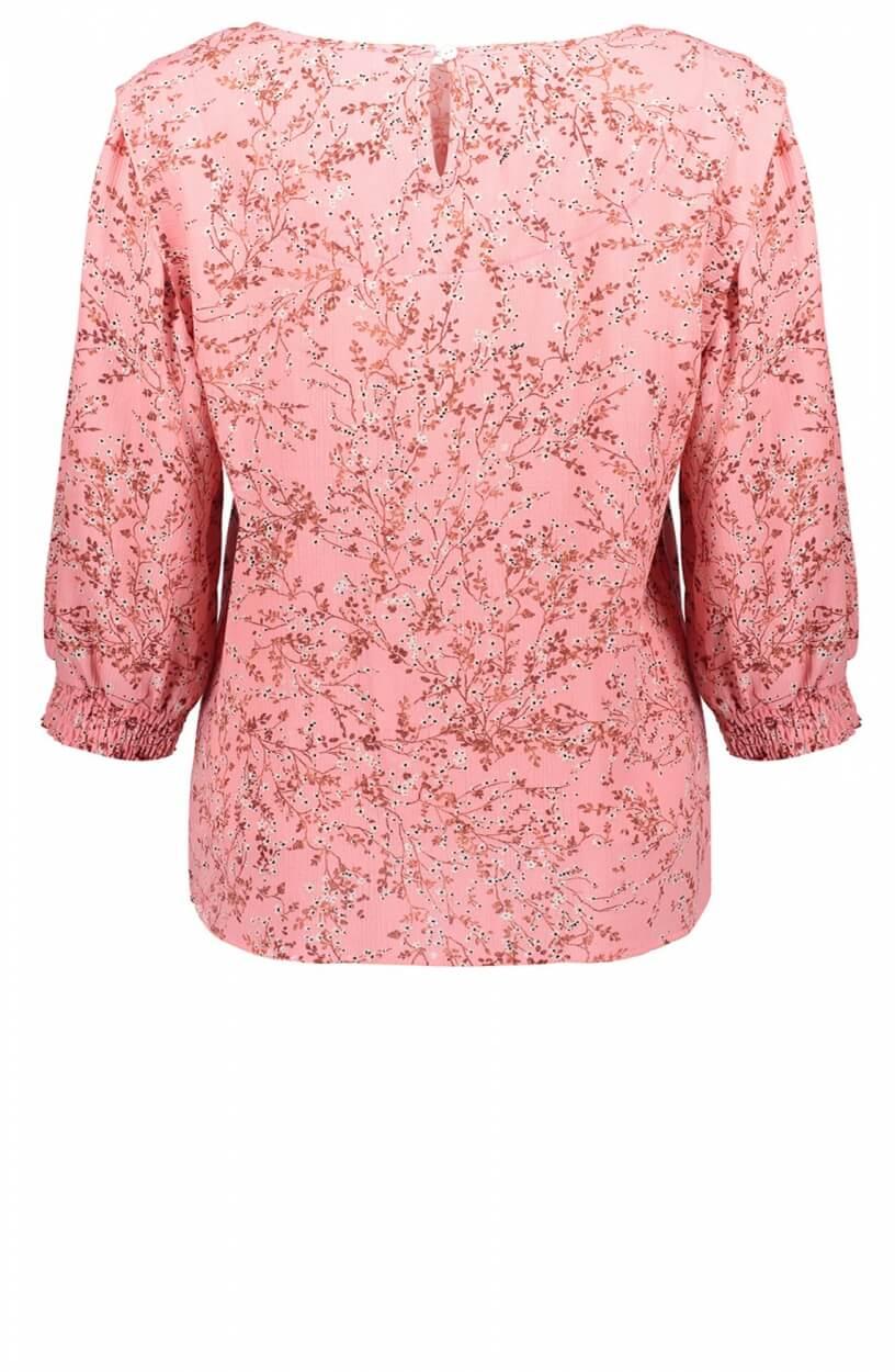 Geisha Dames Bloemenprint blouse Roze