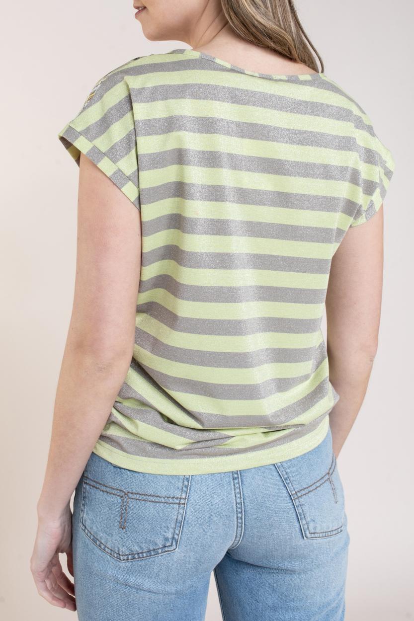 Geisha Dames Shirt met print Bruin