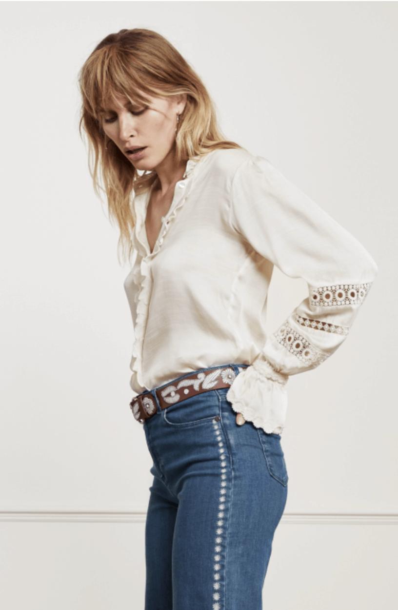Fabienne Chapot Dames Boho blouse Wit