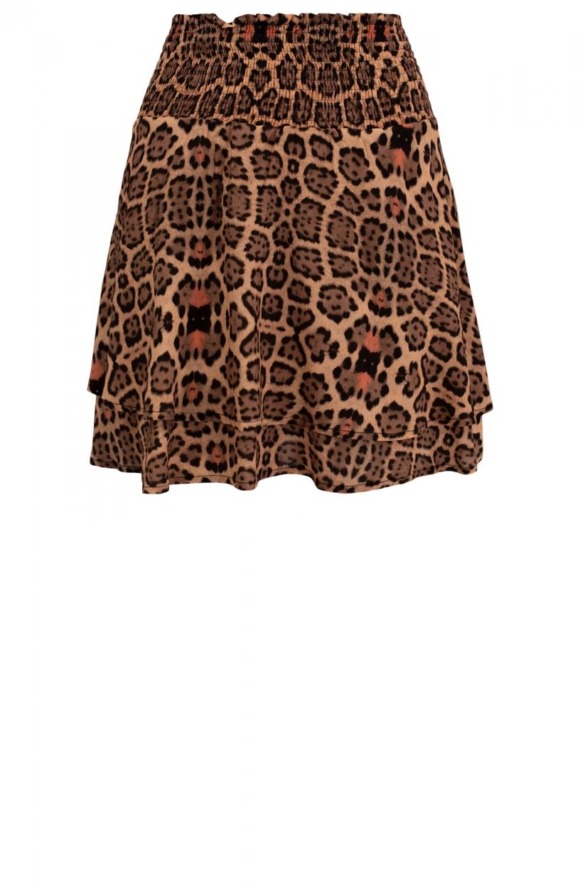 Alix The Label Dames Leopardprint rok Bruin