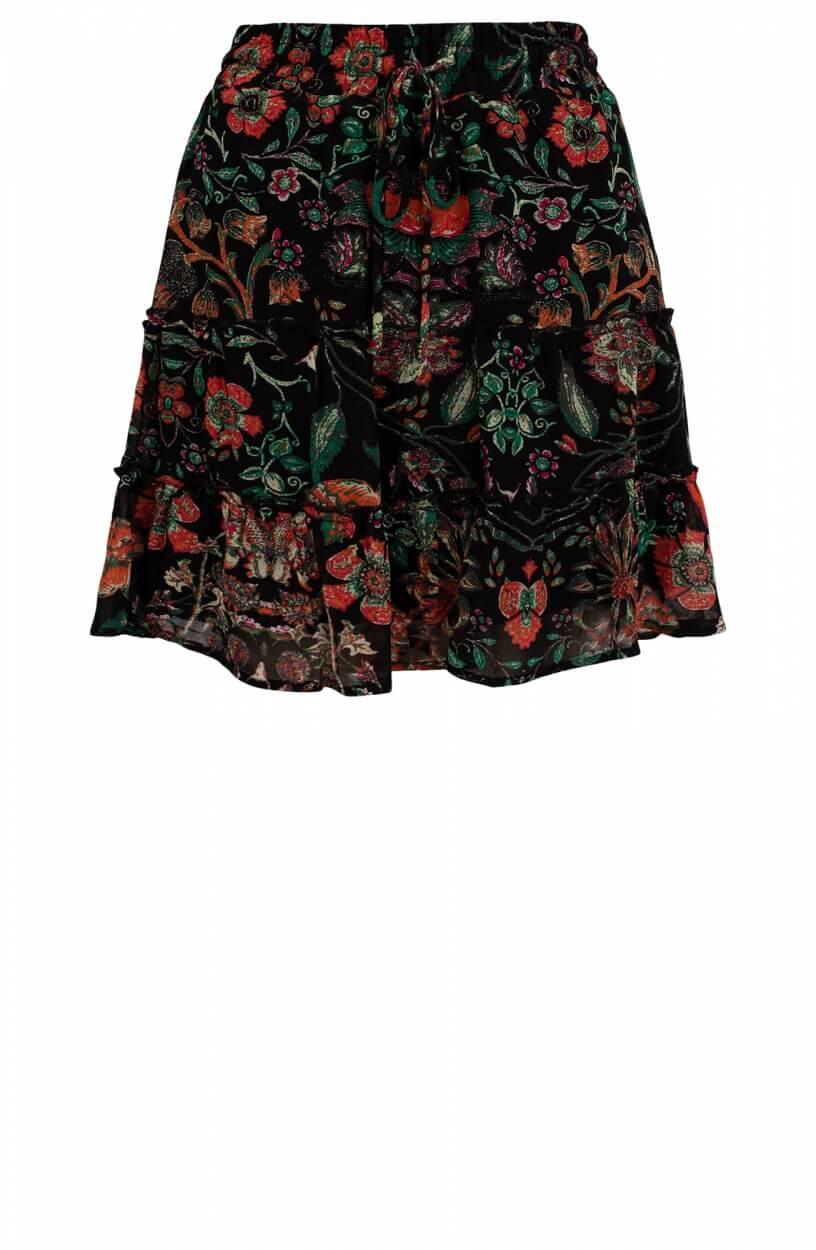 Alix The Label Dames Rok met print Zwart
