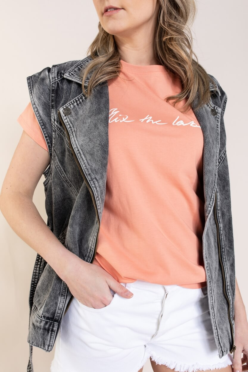 Alix The Label Dames Shirt met tekstprint Roze