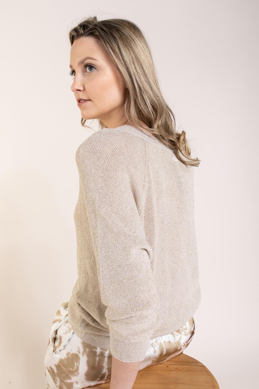 10 Days Dames Lurex sweater Geel