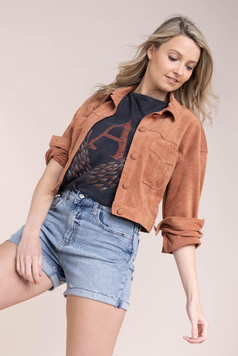 Alix The Label Dames Shirt met print Zwart
