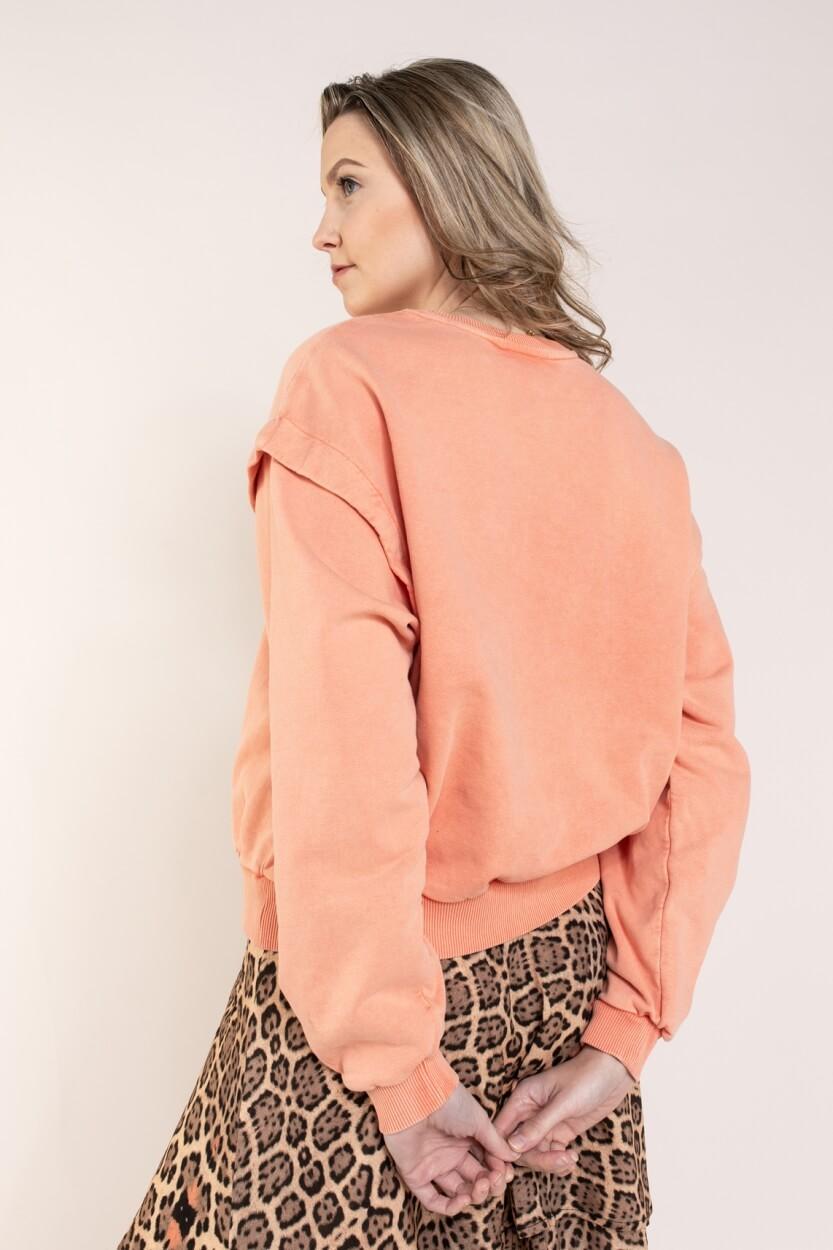 Alix The Label Dames University sweater Roze