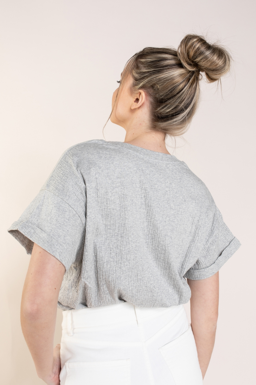 10 Days Dames Crinkle shirt Grijs