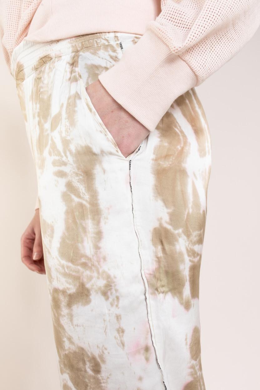 10 Days Dames Tie dye broek Geel