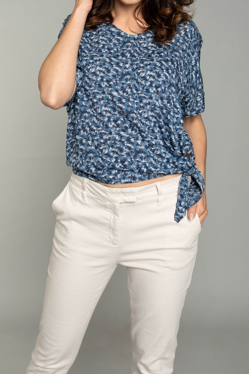 Moscow Dames Lindy blouse Blauw