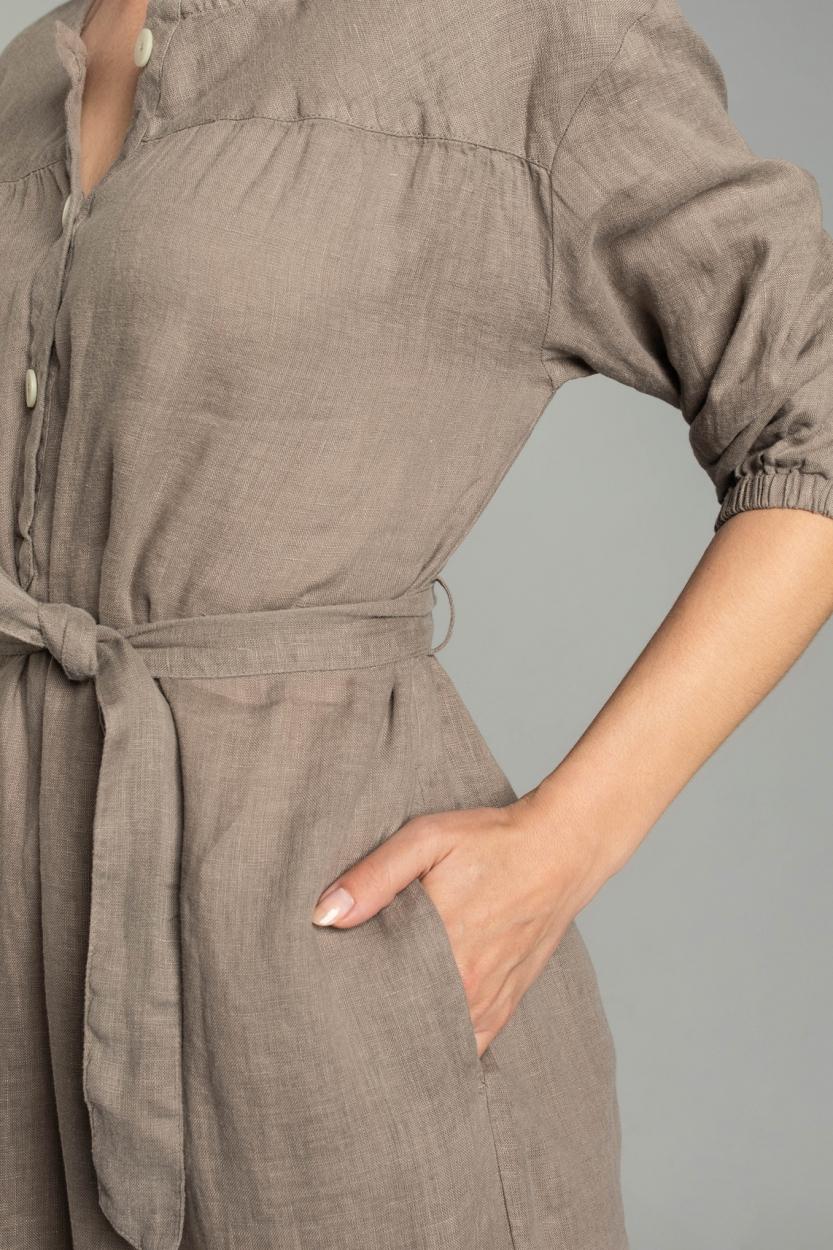 Moscow Dames Moonbeam jurk Bruin