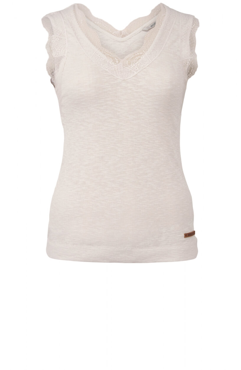 Moscow Dames Lace top Wit