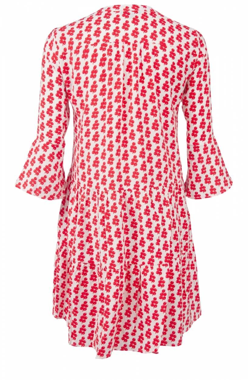 Smashed Lemon Dames Volant jurk Rood