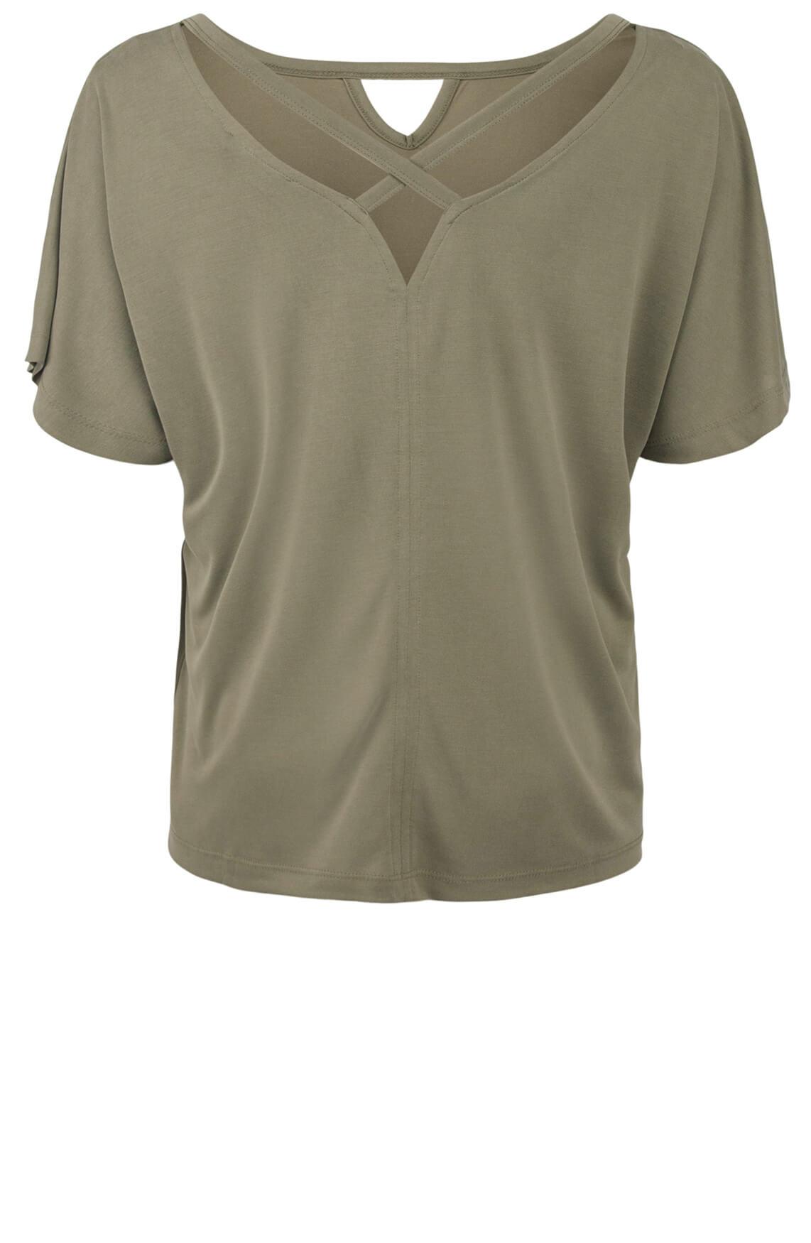 Geisha Dames Kruisband shirt Groen
