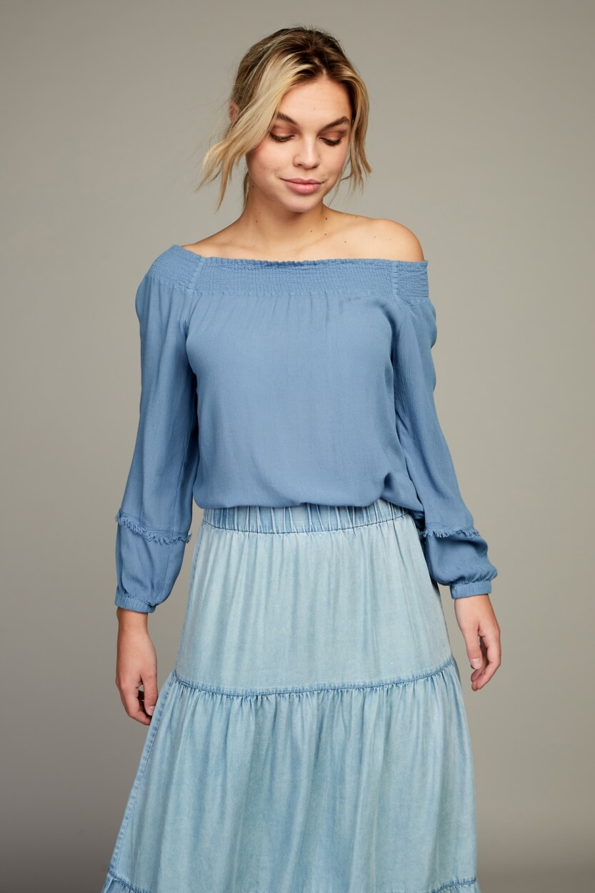 Moscow Dames Starlight blouse Blauw