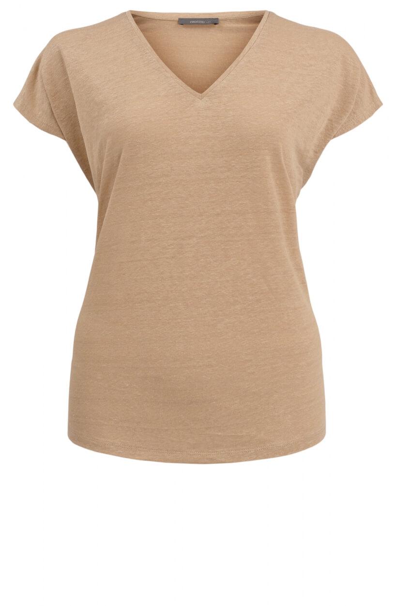 Emotions Dames Linnen shirt Bruin
