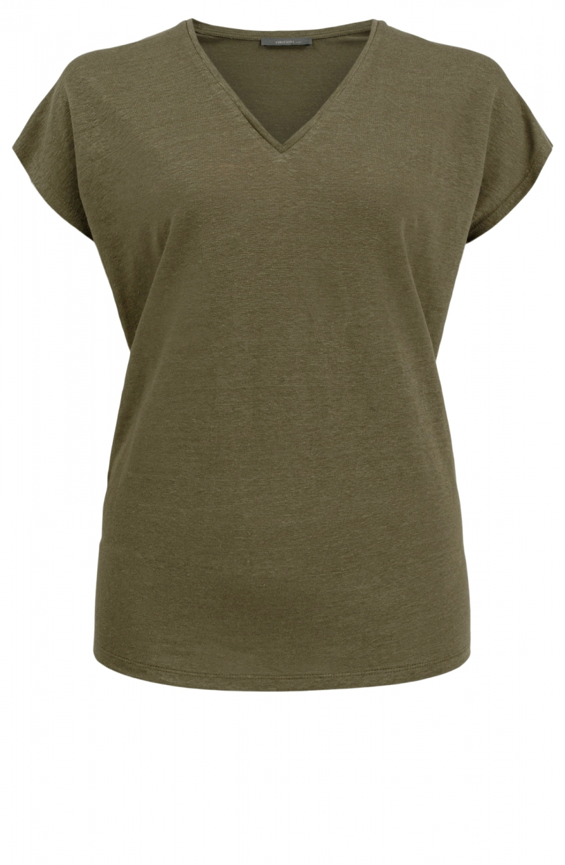 Emotions Dames Linnen shirt Groen
