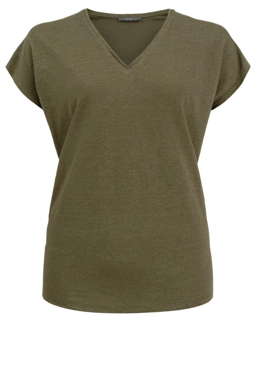 Emotions Dames Linnen shirt Groen