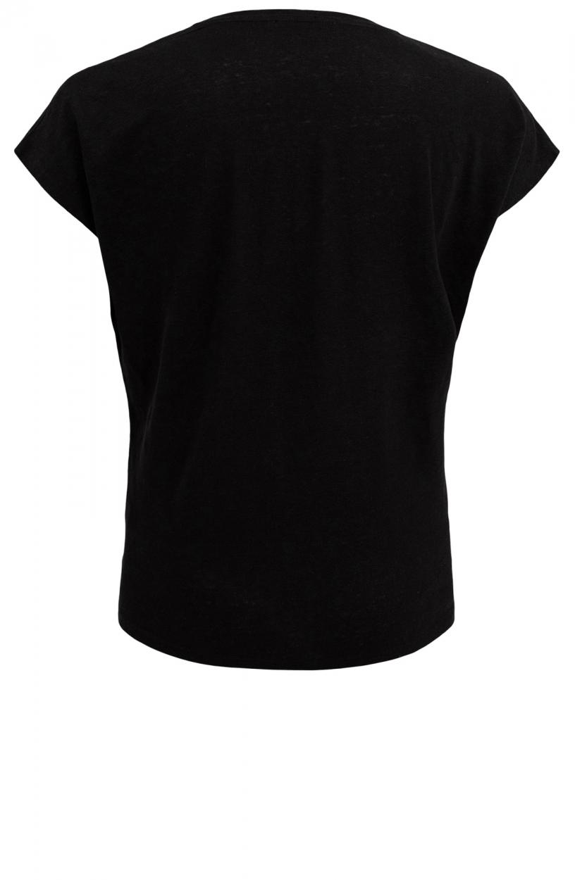 Emotions Dames Linnen shirt Zwart