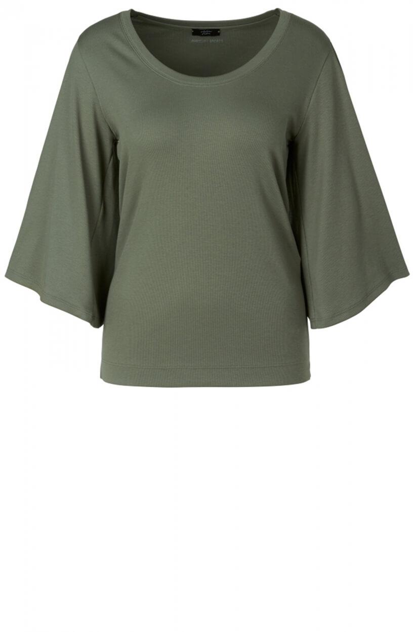 Marccain Sports Dames Shirt met wijde mouwen Groen