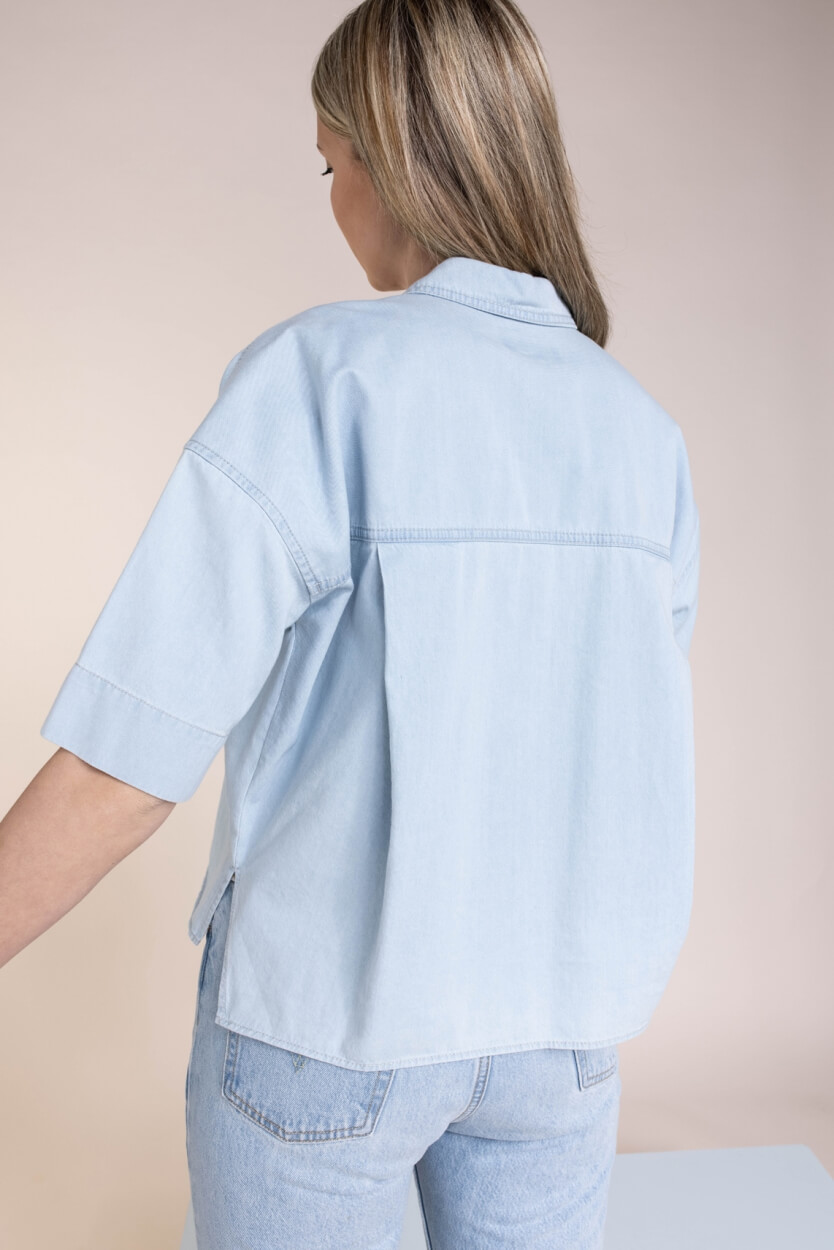 Drykorn Dames Therry blouse Blauw