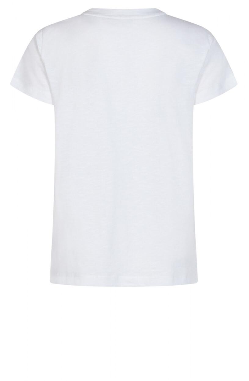 Mos Mosh Dames Vee shirt Wit