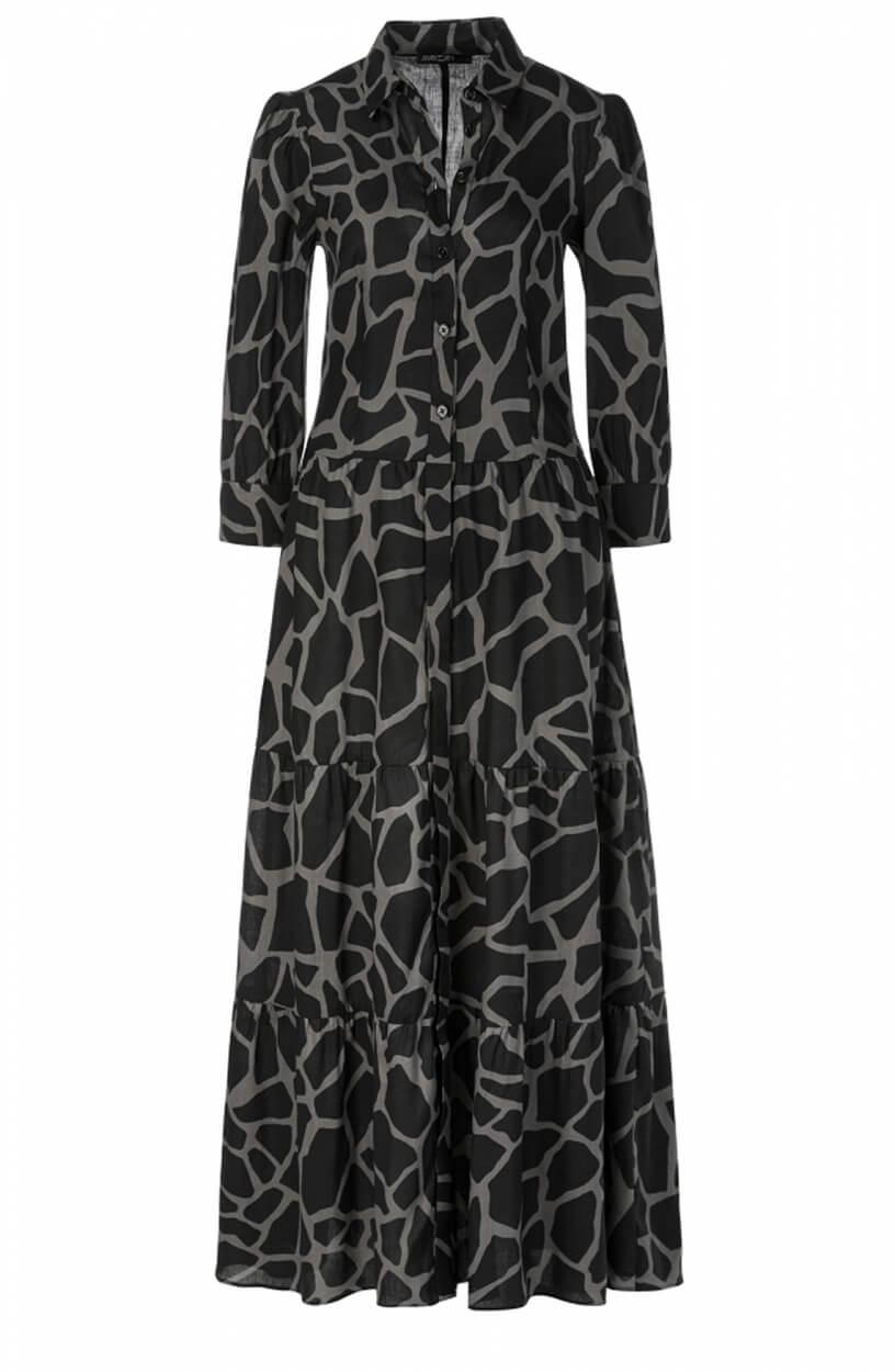 Marccain Dames Giraffeprint jurk Zwart