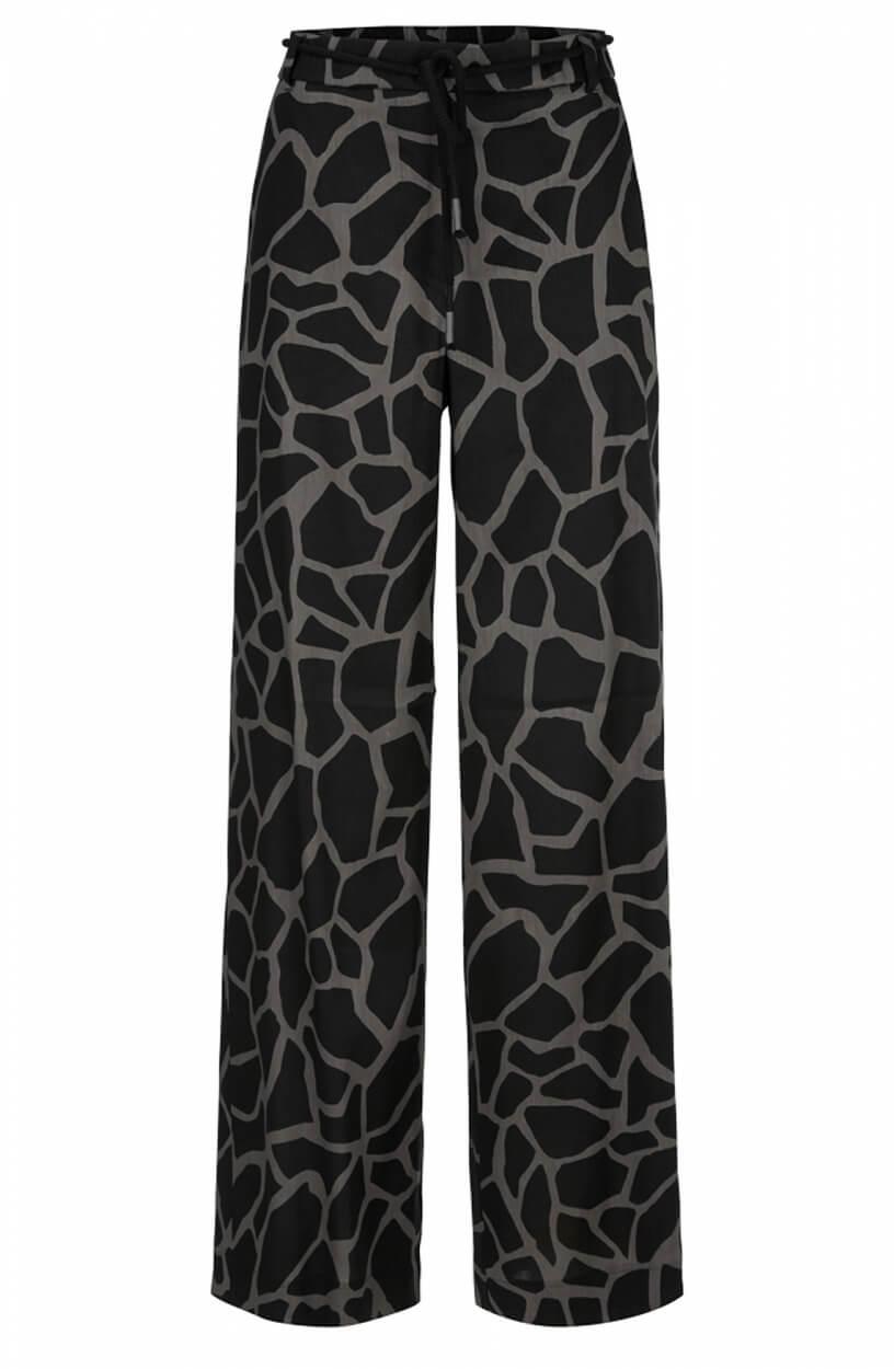 Marccain Dames Giraf print pantalon Zwart
