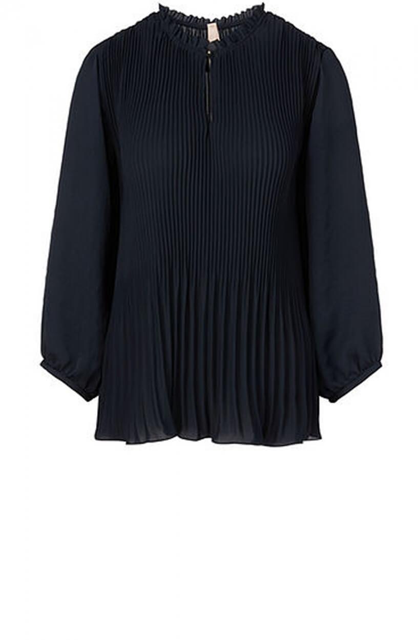 Marccain Dames Plissé blouse Blauw