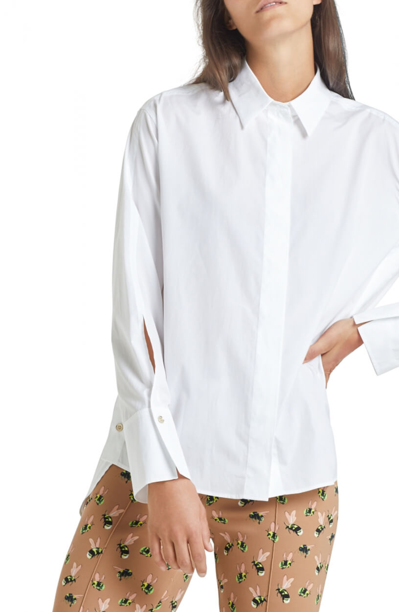 Marccain Dames Blouse met knoopdetail Wit