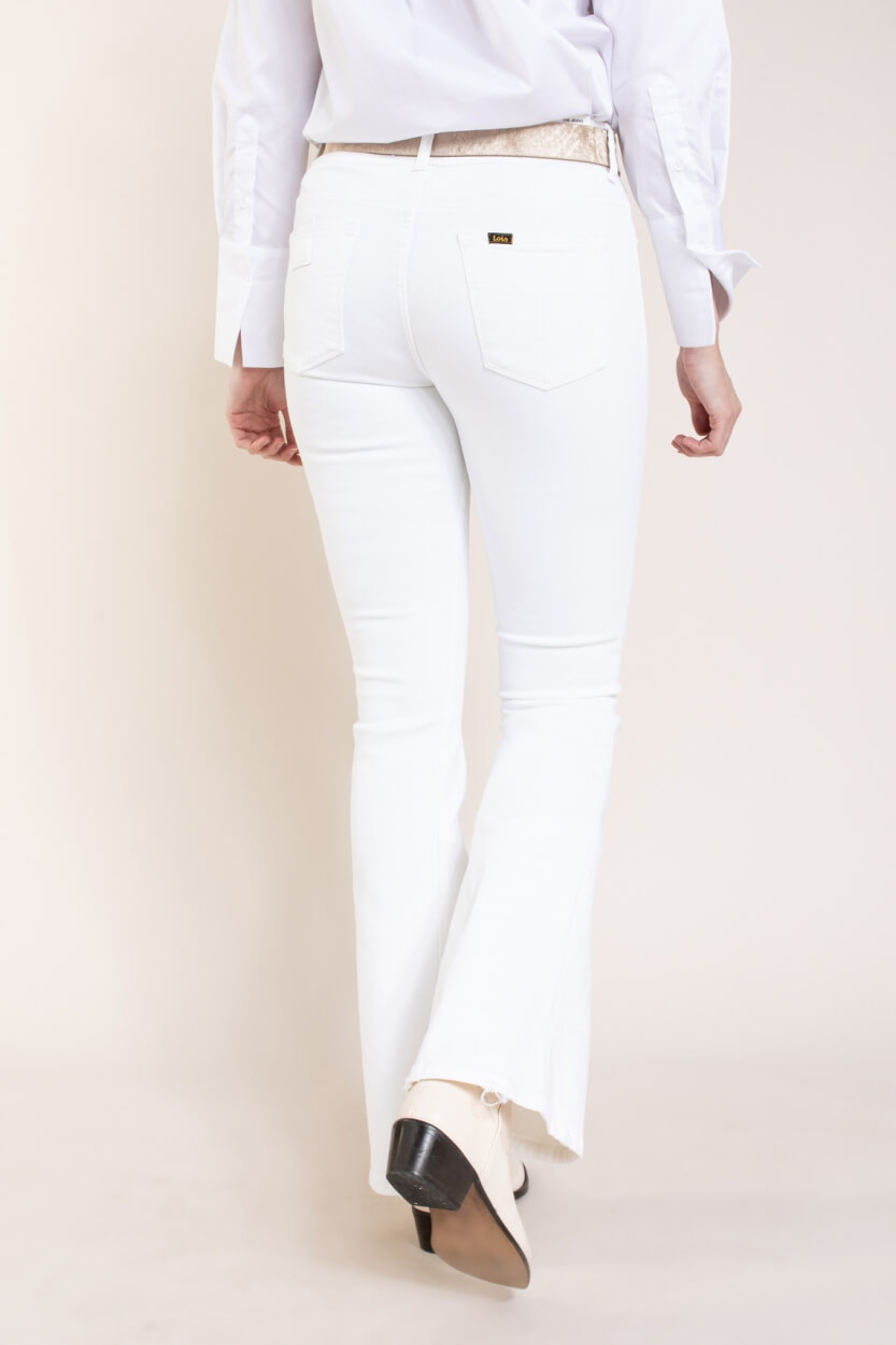 Lois Dames Raval flared jeans Wit