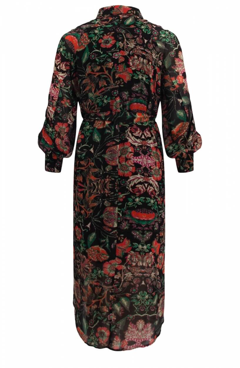 Alix The Label Dames Chiffon jurk Zwart