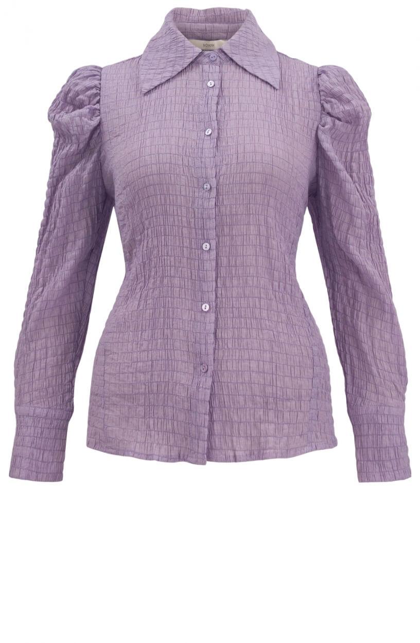 Nümph Dames Nucalvina gesmokte blouse Paars
