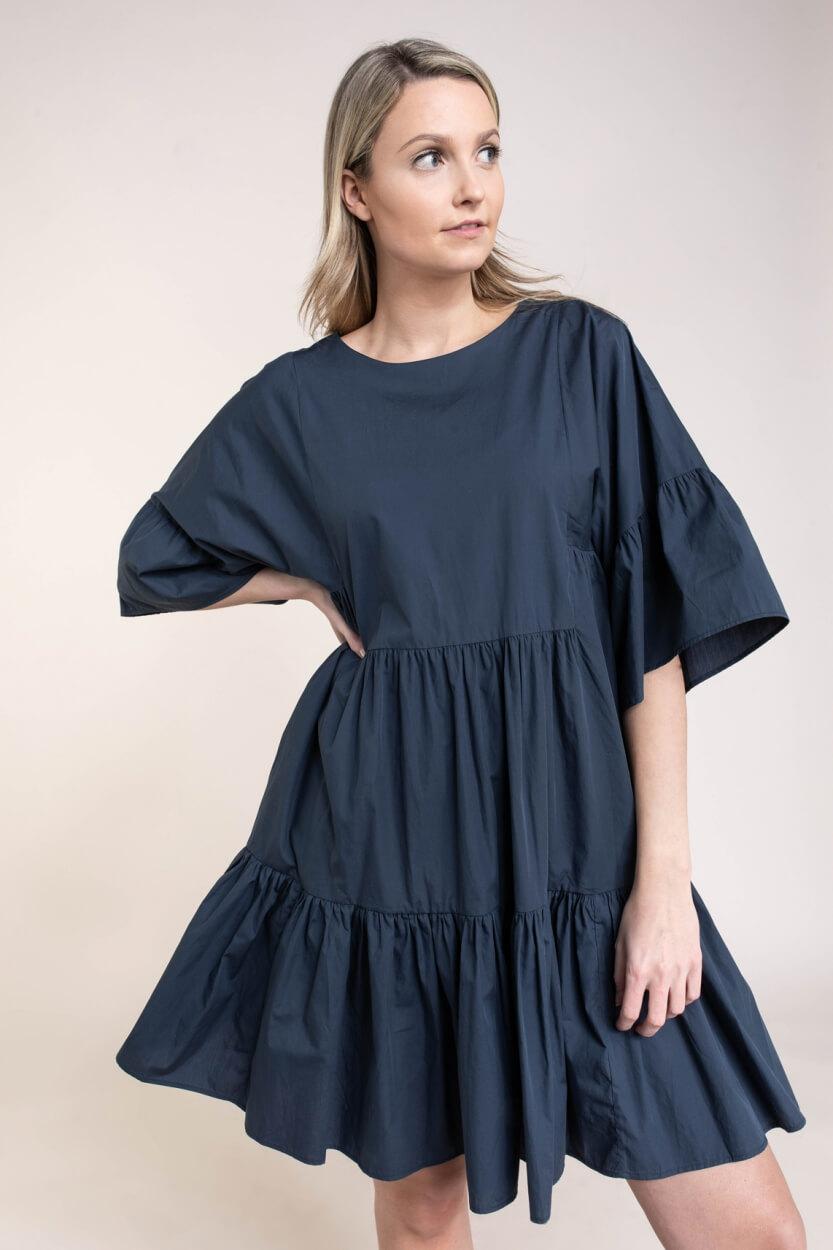 Closed Dames Volant jurk Blauw