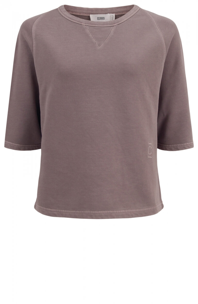 Closed Dames Garment dye pullover Paars