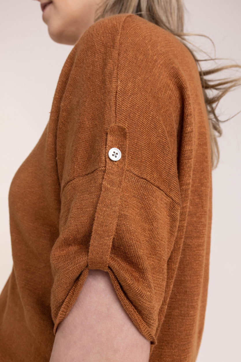 Emotions Dames Gebreid shirt Bruin