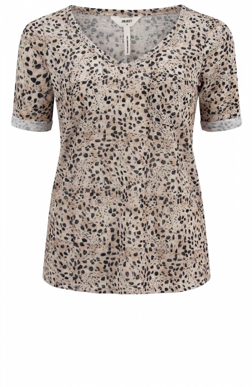 Object Dames Tessi shirt Bruin