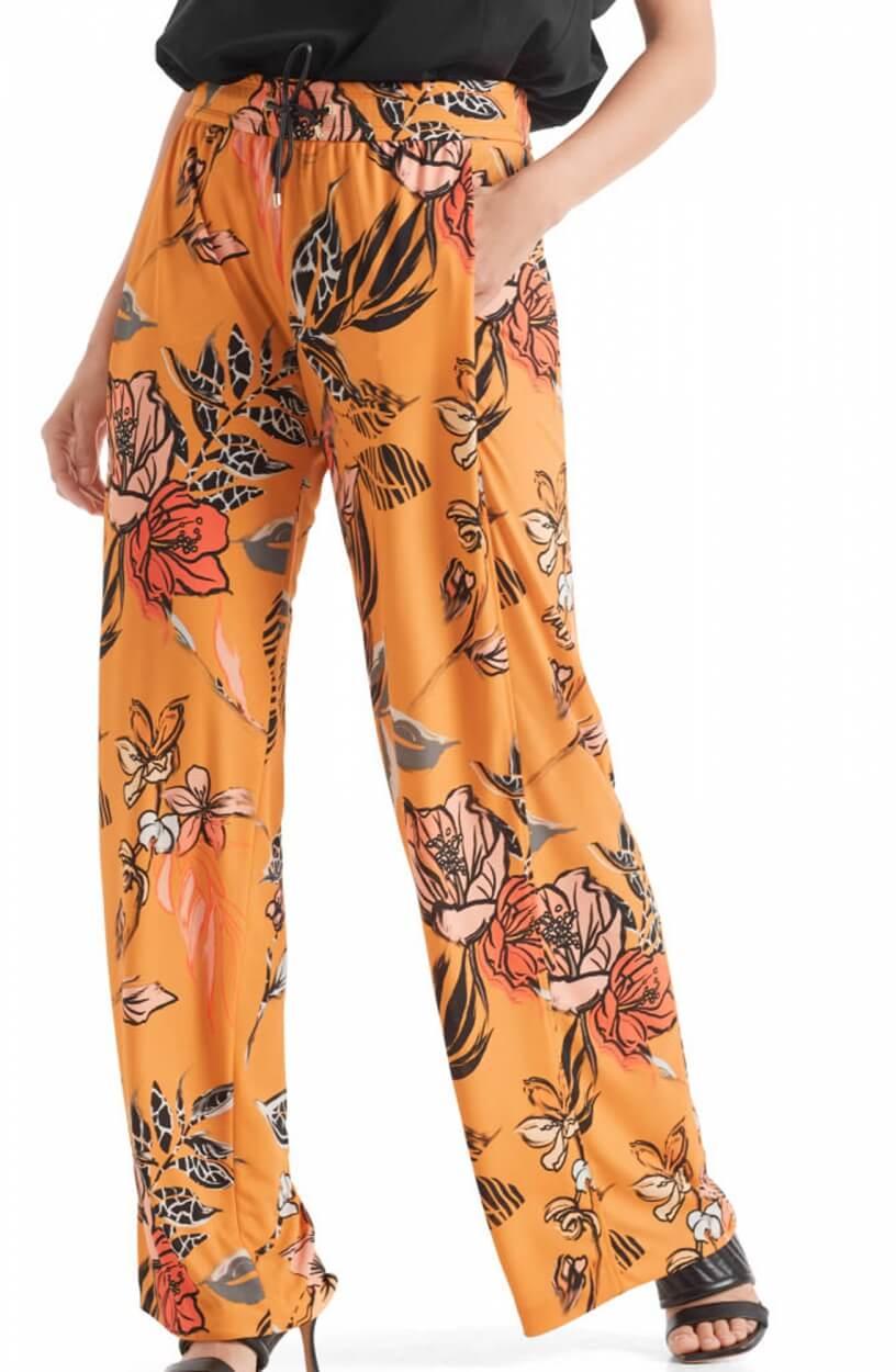 Marccain Dames Bloemen pantalon Geel