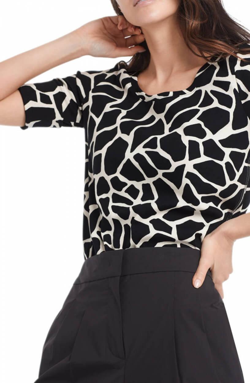 Marccain Dames Girafprint shirt Zwart