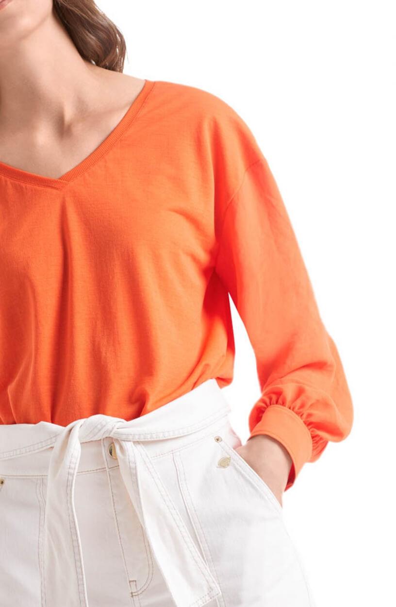 Marccain Dames Crêpe shirt Oranje