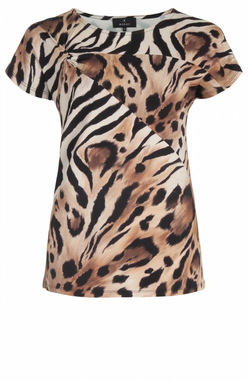 Monari Dames Animalmix shirt Wit