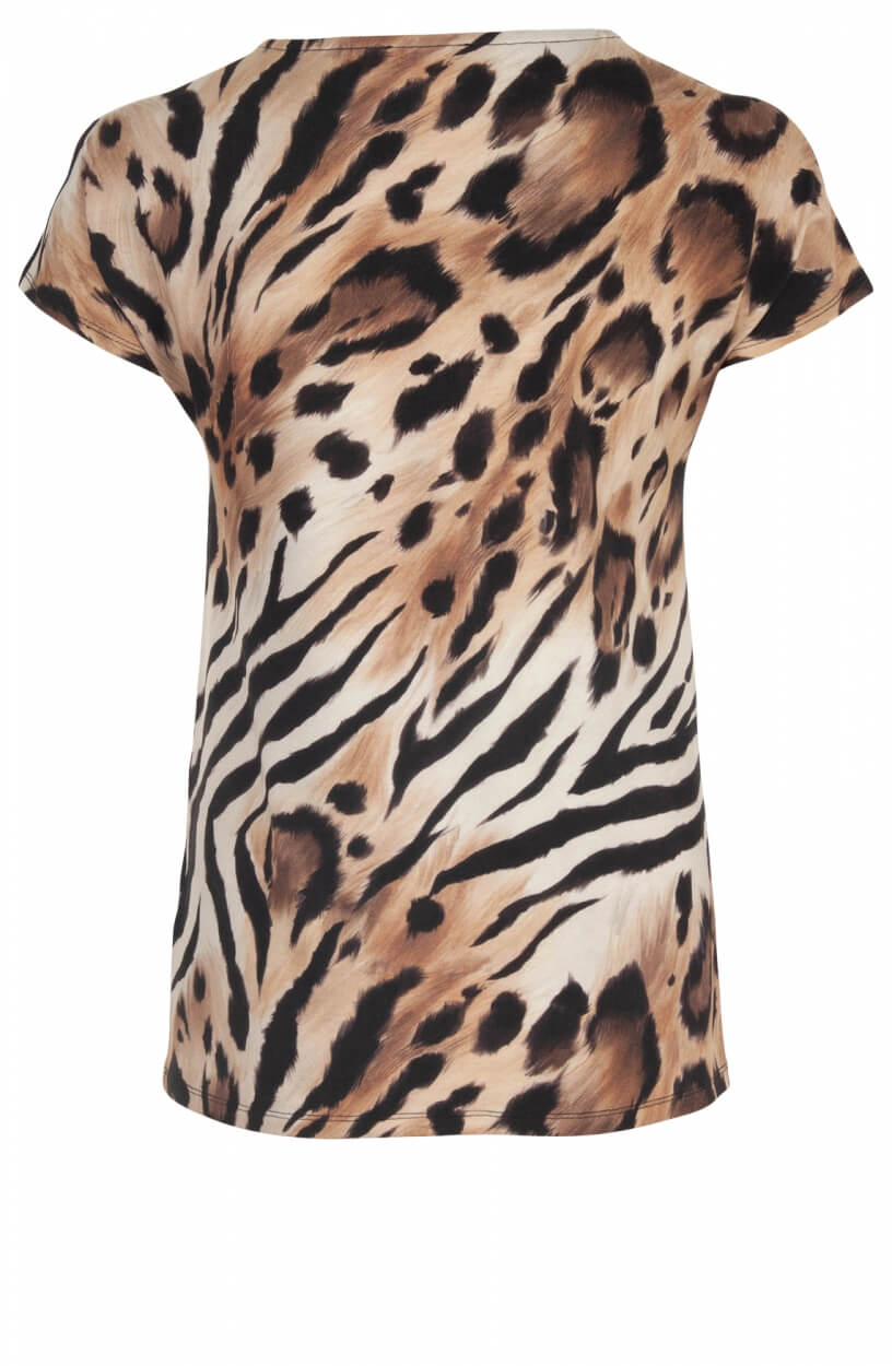 Monari Dames Animalmix shirt Wit
