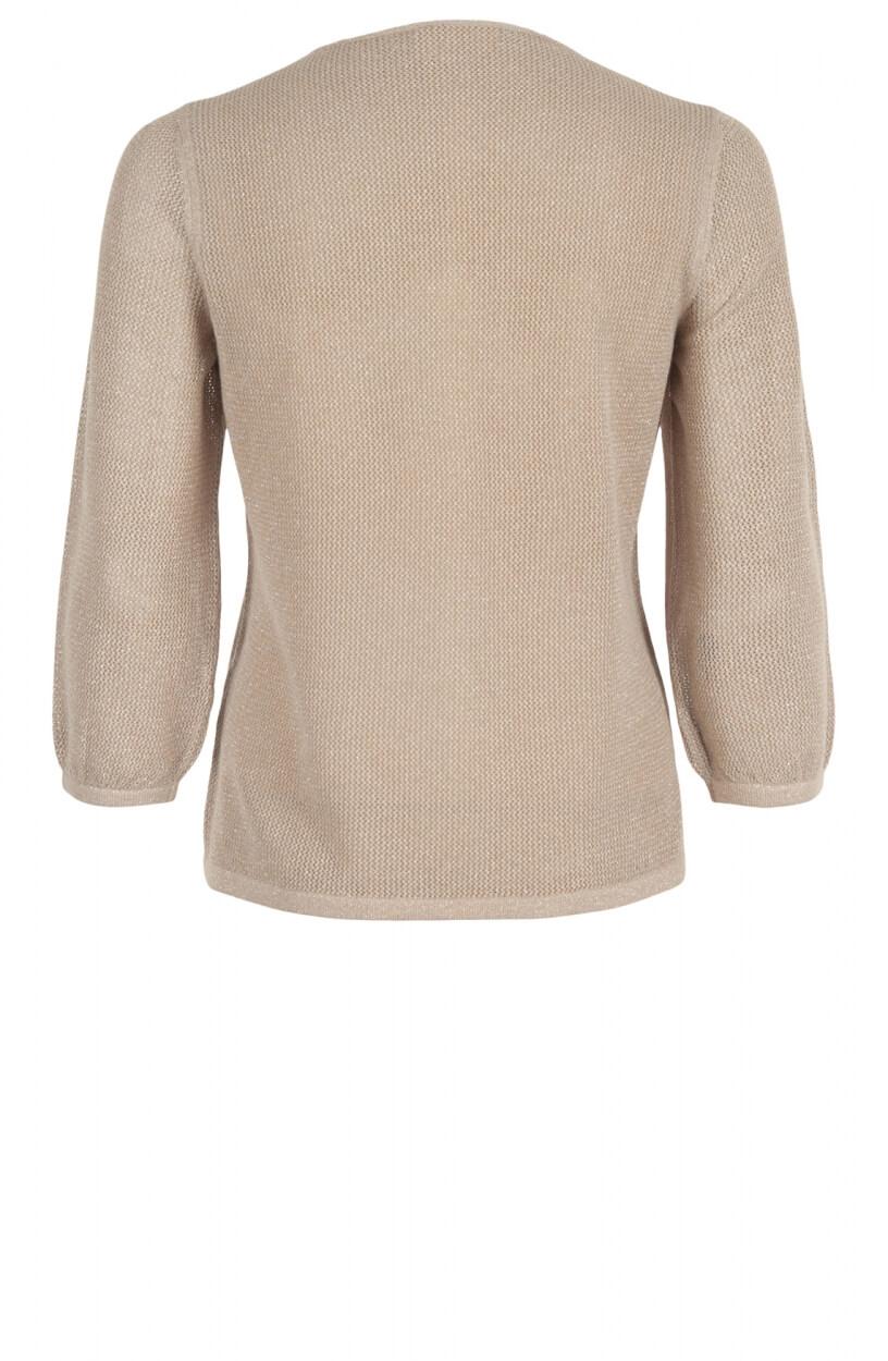 Monari Dames Mesh shirt Bruin