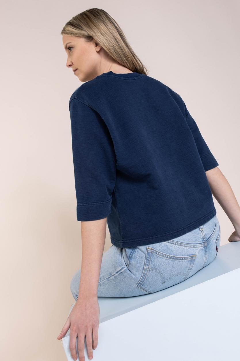 Closed Dames Jean sweater Blauw