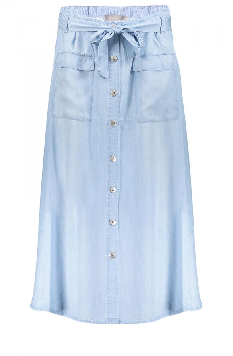 Geisha Dames Spijkerblauw rok Blauw